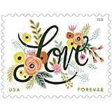 Love Flourishes 4 Sheets of 20 U.S. First Class Forever Postage Stamps Wedding Love Valentine 80 Stamps Scott 5255