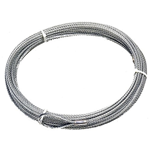 "WARN 25987 Winch Accessory: Steel Cable Wire Rope with Loop End and Terminal, 5/16"" Diameter x 125' Length, 4.5 Ton (9,000 lb) Capacity"
