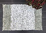 Woven St Luxury Paper Shag Bath Rug Floor mat for Spa Vanity Shower Super Soft Machine Washable for Bathroom/Kitchen Water Absorbent (24' x 36', Paper Shag)