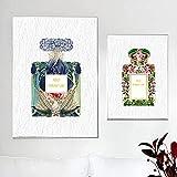 ZLARGEW Blumenblatt Paris Parfüm Nordic Poster Drucke Mode