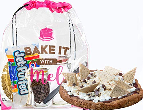 Bake it With Mel - S'mores Pizza DIY Baking Activity Set for Home Chefs, Events, or Parties. Creative Gift for Kids and Adults. Kit Complete with Recipe, Measured Ingredients, and Cookie Supplies