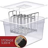 VÄESKE Sous Vide Container with Lid & Rack Set - 12 Quart Accessories Kit for Most Sous Vide...