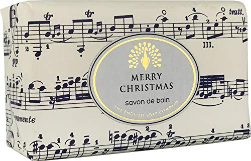 The English Soap Company, Vintage Wrapped Shea Butter Soap, Musical Notes - Cinnamon & Orange, 200g