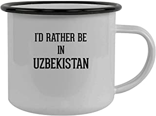 I'd Rather Be In UZBEKISTAN - Stainless Steel 12oz Camping Mug, Black