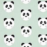 Fabulous Fabrics Cretonne Maotey Panda – mintgrün —