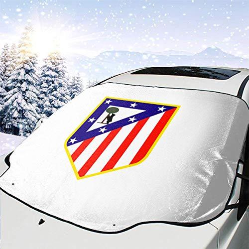 Parasol para Parabrisas de Coche con Logo del Atlético de Madrid, Negro, Talla única