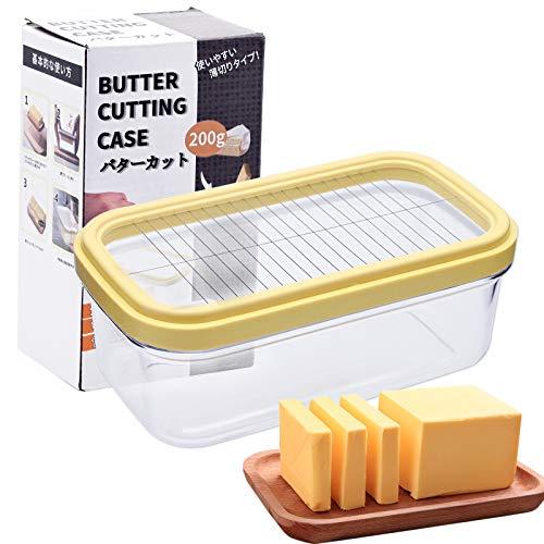 JTOOYS Mantequillas, caja para guardar queso, caja rectangular sellada, herramientas de horneado, mantequilla cortable, recipiente de almacenamiento con tapa (17 ∗ 10 ∗ 7,4 cm)
