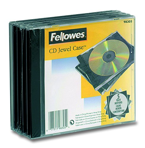 fellowes computer cases Fellowes CD Jewel Etui 5pk - Housse (noir, transparent)