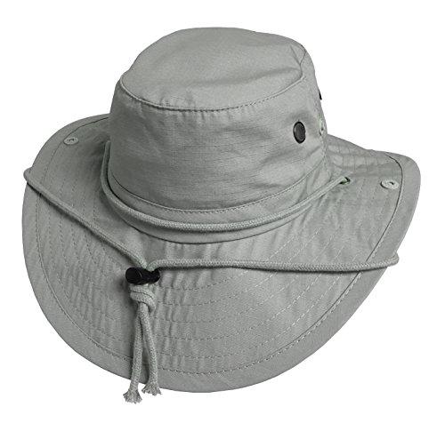 Broner Mens Cotton Ripstop UPF 50+ Sun Hat, Light Grey, Medium