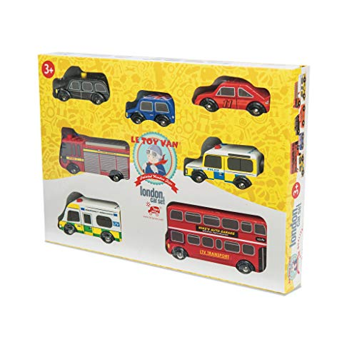 Le Toy Van - Iconic Wooden London Themed Toy Car Play Set - Set 7 Pieces | Play Vehicle Role Play Toys - Suitable For 2 Year Old +