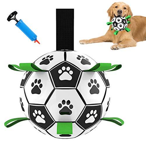 G.C Hundespielzeug Ball Fußball Hund Interaktives Hundeball für Welpe kleine Hunde 15 cm Zerrspielzeug Hund Spielball mittelgroße Hunde