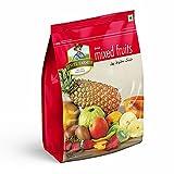JEWEL FARMER Dried Mixed Fruits with Mango, Papaya, Pineapple, Pomelo, Guava, Kiwi & Strawberry, Vitamin & Fiber Rich Fruitmix (250g)