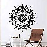 sanzangtang Colorido Indio Yoga Mandala Autoadhesivo Vinilo Impermeable Agua Pared Arte calcomanía Mural Arte de la Pared,85x84cm