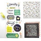 Family Memories & Stories Scrapbook kit | DIY Journaling Set | 12 x 12 Cardstock - Journals & Scrapbooking Embellishments | Family Scrapbook kit & Journaling kit