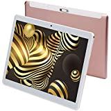 "Android 9.0 Tablet 10 Inch Octa-Core Processor, Dual SIM 3G Phone Call,4GB RAM 64GB ROM,10.1"" IPS HD Tablets PC,Bluetooth WiFi Google Play(Pink)"