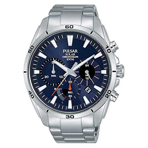 Seiko Herren Analog Quarz Uhr mit Edelstahl Armband PZ5057X1