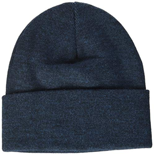 LEVIS FOOTWEAR AND ACCESSORIES Men's Red Batwing Embroidered Slouchy Beanie, Blue (Navy Blue 17), One Size