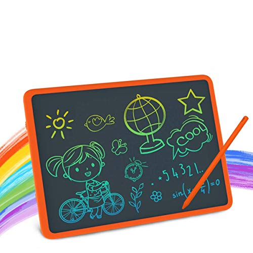 LCD Writing Tablet, 11 Inch Colourful Screen Electronic Writing and Drawing Board, Erasable Reusable Doodle Pad Tablet for Kids and Adults at Home, School, Office(Rot)