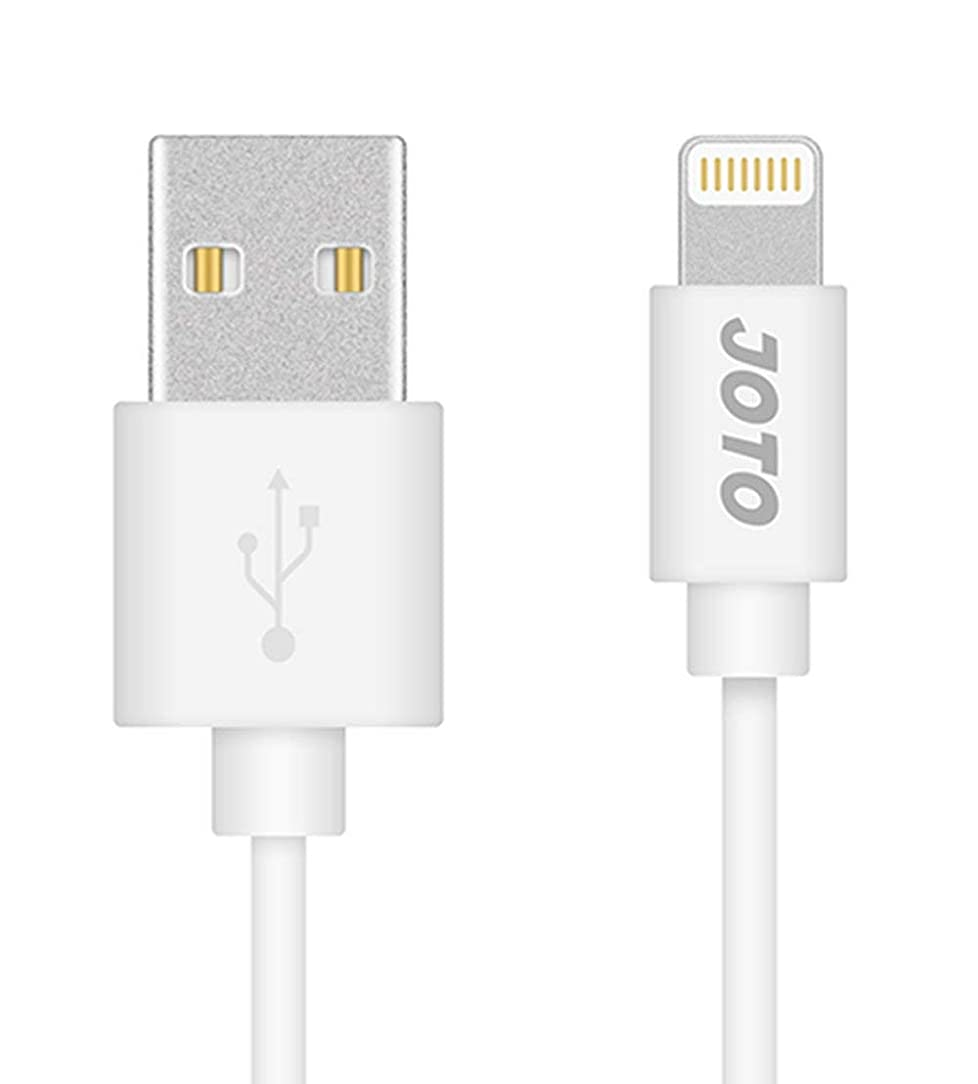 JOTO Lightning Cable Compatible with iPhone Xs Max XS XR X 8 7 6S Plus 5s iPad 9.7 Pro Air iPod Touch 5 6th gen Nano 7th gen, Lightning to USB Cable (6.6ft 2m Long) Data Sync Cable (White)