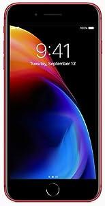 Apple iPhone 8 Plus, US Version, 64GB, Red - Unlocked (Renewed)