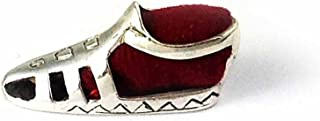 Collectible Mini Pin Cushion Antique Style Sewing tool GRADIATOR Shoes Sterling Silver 925 : Red