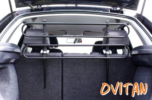 OVITAN® Hundegitter fürs Auto 4 Streben universal zur Befestigung an den Kopfstützen der Rücksitzbank - für alle Automarken geeignet – Modell: H04