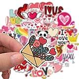 Pegatinas para el día de San Valentín, regalo para los amantes de la guitarra, monopatín, coche, portátil, nevera,...