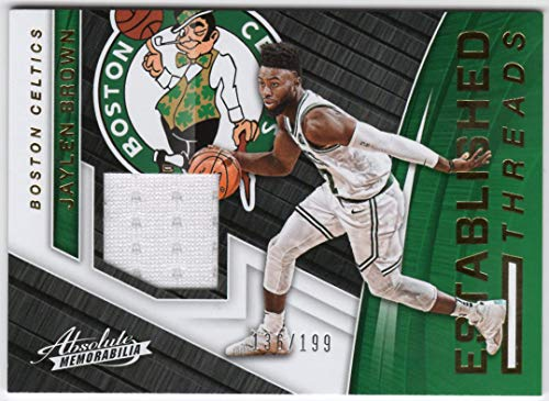 Jaylen Brown 2017-18 Panini Absolute Established Threads Jersey Card Serial #136/199 Boston Celtics