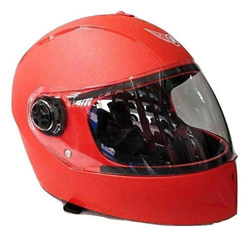 Aerostar Replay Curvy Plain Full Face Helmet (Red, 58 Cms Large)
