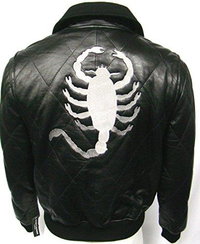 Ryan Goslin film Scorpion style aviateur réels Vestes en cuir souple Toutes tailles (UK 3XL / EU 58)