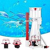 Kacsoo Espumador de proteínas, para acuario, para ajustar el flujo de aire para acuarios grandes, bomba de corriente de aire, cepillo silencioso, diseño de difusión de agujeros (para 400 – 700 L)