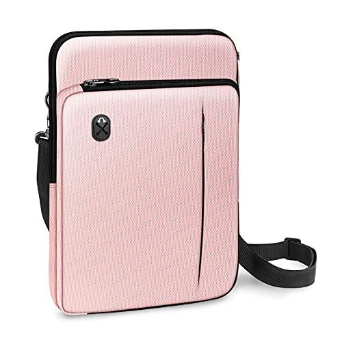 "FINPAC 13 Pollici Laptop Custodia Borsa a Tracolla per 13.3"" MacBook Air 13 A2337 M1/A2179/A1932, MacBook PRO 13 A2338/A2159/A1989/A1708/A1706, iPad PRO 12.9, Microsoft Surface PRO X/7/6/5, (Rosa)"