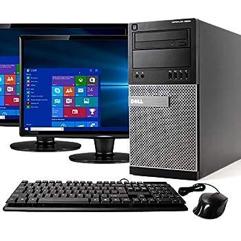 Dell Optiplex 9020 Mini Tower Desktop PC Intel Core i7-4770 16GB Ram 2TB SATA Drive + 256GB SSD WiFi DVD-RW Dual 22  LCD Windows 10 Pro  Renewed