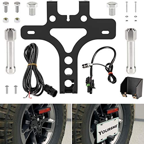 License Plate Relocation Kit for Jeep Wrangler JL JLU 2018 2021 Rear Spare Tire Mount License product image
