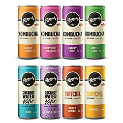 All The Flavours Of The Remedy Rainbow: Eight different fizzy and refreshing live cultured drinks, all with no sugar, naturally. Kombucha: The og remedy live cultured drinks range, made by naturally fermenting sweet tea with a live culture. Handcraft...