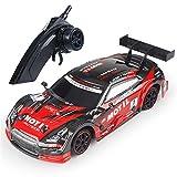 1:16 Voiture de Course télécommandée, RC Haute Vitesse 4WD Drift Stunt Car Toys pour garçons Filles (GTR, RC-F)