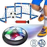Hover Ball Goal Set Air Soccer,(1 X Air Hover Ball+2 Goal De Fútbol) Aire Fútbol para Actividades Interiores O Exteriores con Luz LED Y Música (2 Goal)