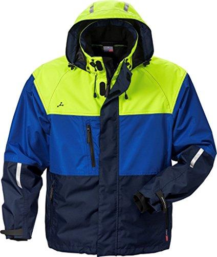 Fristads 120963 Kansas Workwear Wasserdichte Jacke Gr. M, Marineblau/Gelb