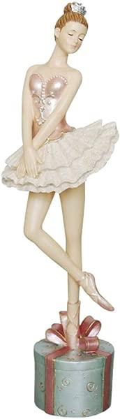 Comfy Hour 12 Polyresin Dancing Ballet Girl On Gift Home Decorative Figurine Pink