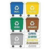 Haberdashery Online 5 Etiquetas Adhesivas para Reciclaje Basura. Pegatinas para...