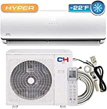 COOPER AND HUNTER Hyper Heat 18,000 BTU 20 SEER Ductless Mini-Split Air Conditioners -22F Heat Pump Dakota Series with Installation Kit