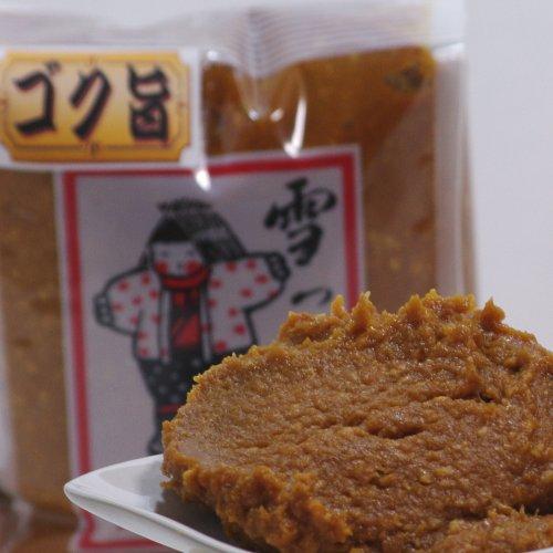 [手作り味噌]雪っ子 ゴク旨味噌 8kg(箱詰め)(昔ながらの本格みそ)