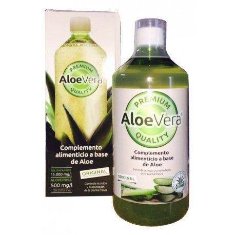 Zumo puro ecológico de aloe vera con pulpa 1 litro Bio.Certificado