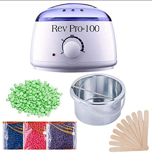 Revolution Wax Warmer Hot Wax Heater with Hair Removal Wax Beans(100g) and Wooden Chips for Hard, Strip and Paraffin Waxing Kit for Women - Color May Vary