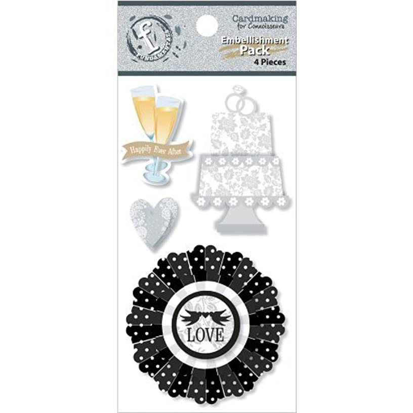 Ruby Rock-It Fundamentals Cardmaking Embellishment Pack, Wedding, 4-Pack