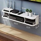 KAXO Estantes Flotantes Estantes Flotantes Utilizados para Componentes de Tv, Consolas de Medios de Pared, Cajas de Alenamiento para Cajas de Cable/Enrutadores/Reproductores Remotos/Dvd, Imperm