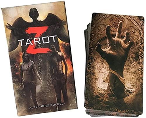 YQRX Tarot Z Tarjetas de Cubierta, 78 Tarjetas de Tarot, usadas para Juegos de Mesa de Mesa Interior, adecuados para Tarjetas de Juegos de Fiesta y Fiestas (Bolsas, manteles)