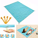 Sand-Free Beach Mats, Beach Mat Sand Proof Rug Picnic Blanket - Fast Dry, Easy to Clean Perfect Ultra Portable for Beach, Picnic, Camping, Outdoor Events (79' 59')