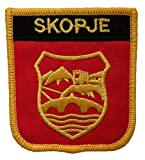 1000 Flaggen Skopje North Macedonia Schild Bestickt Aufnäher