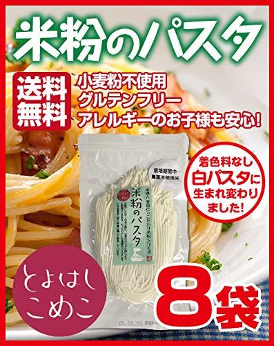 とよはしこめこ 米粉のパスタ グルテンフリー・小麦粉フリー・アルミフリー 128g×8袋